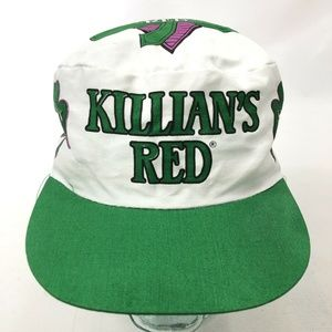 KILLIAN's RED Painters Hat White Green St. Patrick